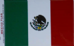 Mexico Country Flag Rectangular Decal.